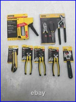 Stanley Mixed Hand Tool Lot Of 9 3 Plier Set Box Cutter End Cut Pliers X 3