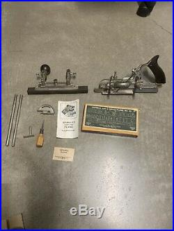 Stanley No 45 Combination Plane Excellent & Complete With Cutter Set