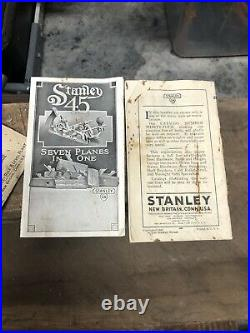 Stanley No 45 Combination Plane with 2 Sets of Cutters & Original Box Excellent