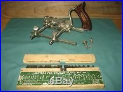 Stanley No 50 Plough / Beading Plane, Set of 17 Cutters, complete