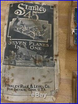 Stanley sweetheart no. 45 planer antique box set with 2 sets of cutters