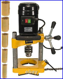 Steel Dragon Tools JK114 Pipe Hole Cutter with 6 Piece Cutter Set up to 1-1/4