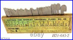 Super nice STANLEY TOOLS NO 4 CUTTER IRON BOX set 55
