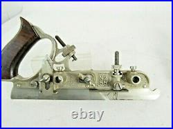 Superb Stanley # 55 Combination Plow Plane With Full Cutter Set In Box Km54