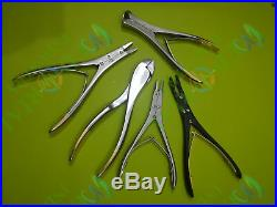 T/C Pin Wire Cutter Wire Twister Ruskin Forceps Set of 5 Pcs Orthopedic Tools