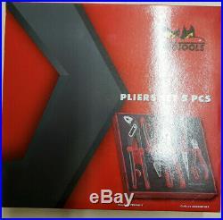 Teng Tools 5 Piece EVA Foam Plier Set Side Cutters, Linesman, Long Nose, Water
