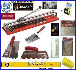 Tiling Tools Kit inc Jokosit Ball Bearing Tile Cutter 80cm Pro Tiler 12Pcs Set