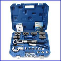Universal Hydraulic Flaring Tool Set Kit Brake Pipe Fuel Line Expander + Cutter