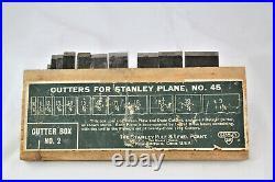 VINTAGE STANLEY No. 45 COMBINATION PLANE 2 SETS OF CUTTERS & Original Box