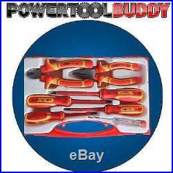 Vde Screwdriver & Plier Side Cutter Set 1000v Insulated 7pc
