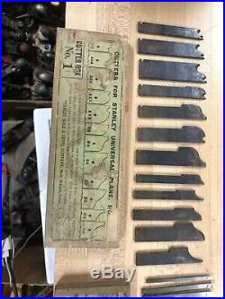 Vintage 4 Box Set. CUTTERS FOR STANLEY UNIVERSAL PLANE NO 55 Stanley