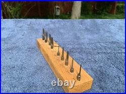 Vintage Clock Bushing Tool Bits Cutters Reamers K W M Bushing Machine Nice Set