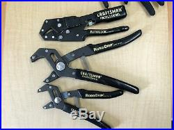 Vintage Craftsman side cutter slip joint, robo-grip pliers set made in USA