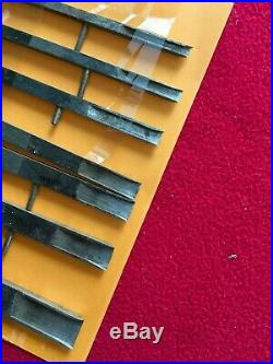 Vintage Set Of 7 Cutters For Phillips Patent Plane