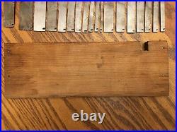 Vintage Set Stanley Plane No. 45 Cutters & Original Wooden Box Collectible USA