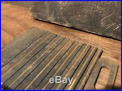 Vintage Set of (9) Stanley 45 Wood Plane Cutters Blades in Original Wood Box