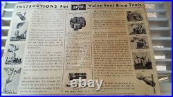 Vintage Sioux Valve Seat Ring Tool / Valve Seat Ring Cutter Set