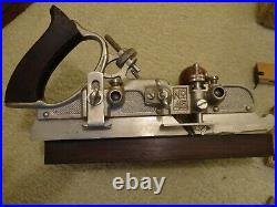 Vintage antique STANLEY No. 45 COMBINATION PLANE 2 sets CUTTERS Original Box