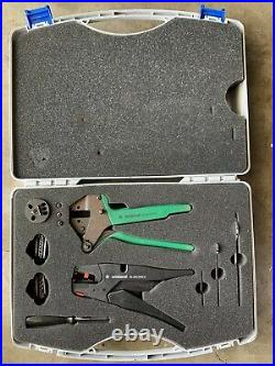 Weiland Electric Crimping Tool + Stripping Tool with Integrated Wire Cutter Set