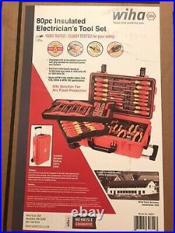 Wiha 32800 Insulated Tool Set Screwdrivers, Cutters, Pliers, Sockets 80 pcs