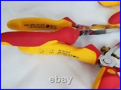 Wiha Insulated Industrial Pliers Cutters and Knife Set Molded Hand Tools 8PC Set