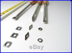 Wood Turning Carbide cutter 12mm Round Stainless Steel tool Set with handles