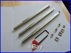 Wood Turning Carbide cutter Tools Stainless Steel Straight Set